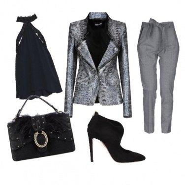 Outfit Blazer pitonato