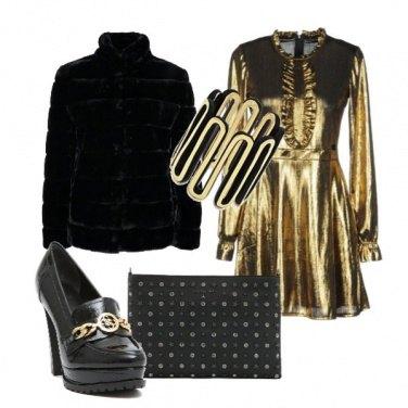Outfit Brillo di oro