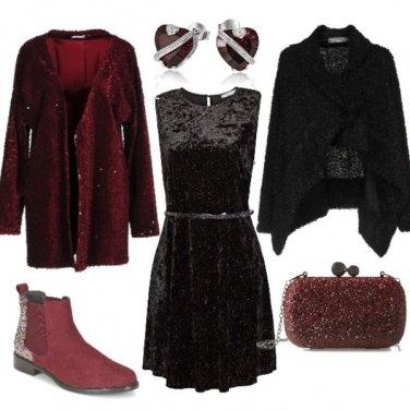 Outfit Paillettes e ciniglia