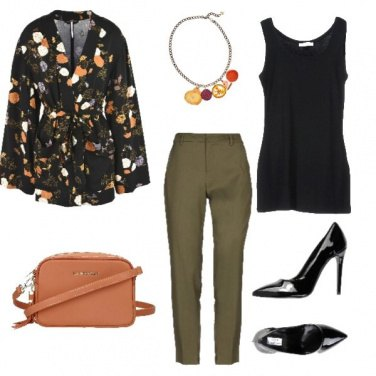 Outfit Giacca in fantasia