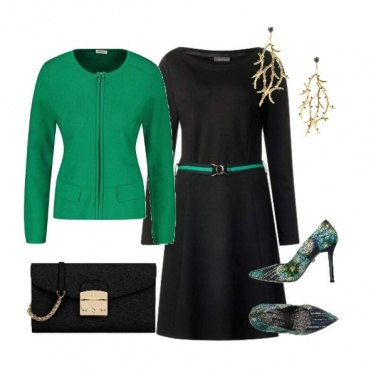 Outfit Verde bosco in fantasia