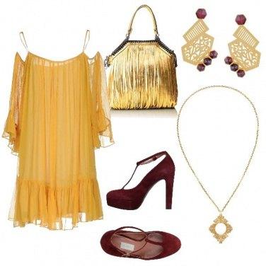 Outfit Capodanno in giallo