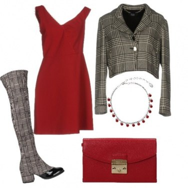 Outfit Rosso da sera