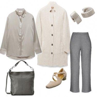 Outfit Minimal beige&grigio