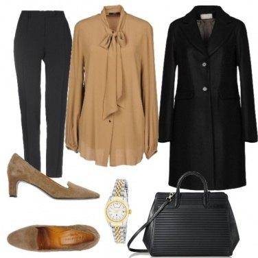 Outfit Camicia con fiocco 1: in ufficio