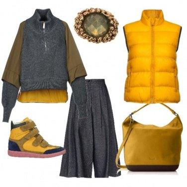 Outfit Giallo trendy