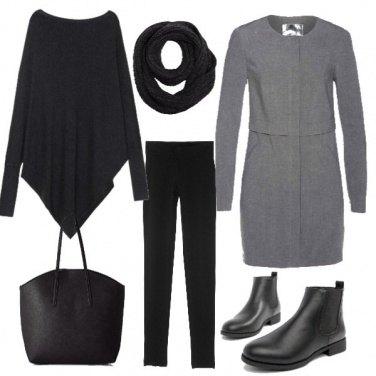 Outfit Cappottino grigio