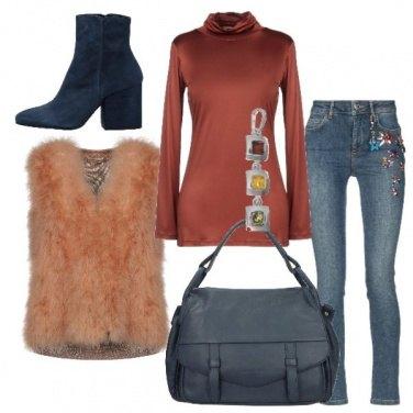 Outfit Il gilet di piume