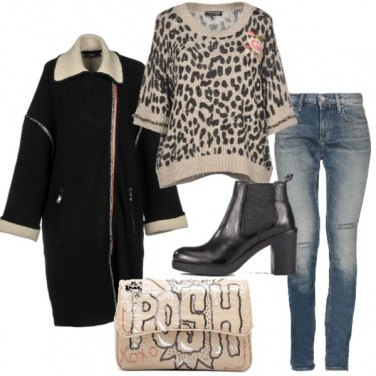 Outfit Il maglioncino animalier