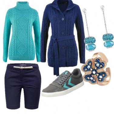 Outfit Turchese and blue style