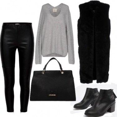 Outfit Pelle e pelliccia