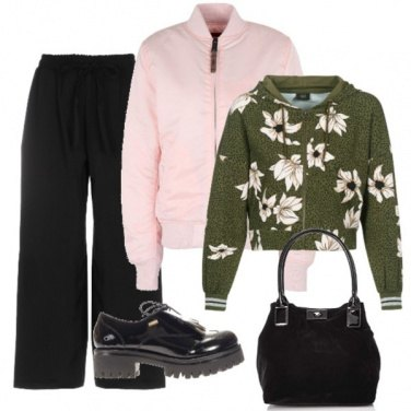 Outfit Delizioso Bomber pink