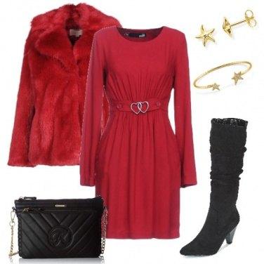 Outfit Capodanno cuori e stelle