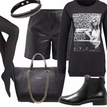 Outfit Grinta in black.