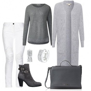 Outfit White and grey