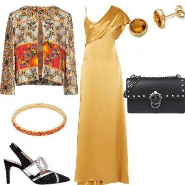 Outfit Capodanno giallo e arancio x i Leone