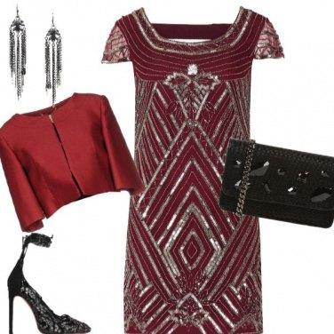 Outfit Capodanno rosso scuro x lo Scorpione