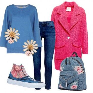 Outfit Fiori e coccinelle