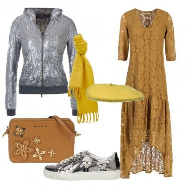 Outfit Pizzo e sneaker Karl Lagerfeld