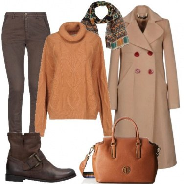 Outfit Cappotto cammello 4:casual