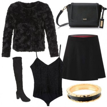 Outfit Total black sbarazzino