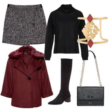 Outfit Giacca bordeaux
