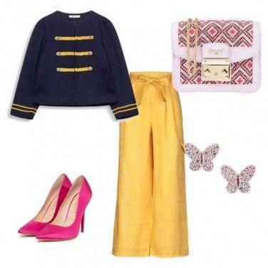 Outfit Pantalone giallo 2