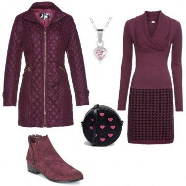 Outfit Cuori rosa
