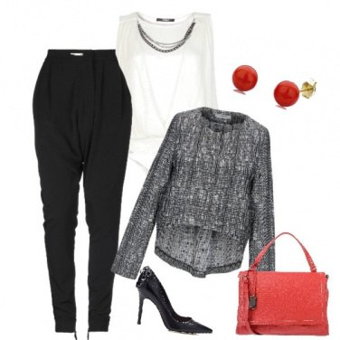 Outfit La shopping bag rossa