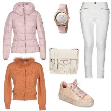 Outfit Rosa e arancio