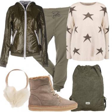 Outfit Caldo e comodo con le stelle