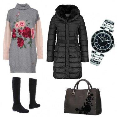 Outfit Bon Ton, le rose ricamate