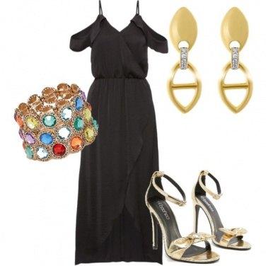 Outfit Cerimonia oro nero