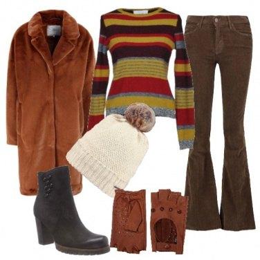 Outfit Al Caldo, con colori caldi