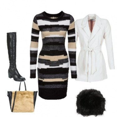 Outfit Vestito a righe