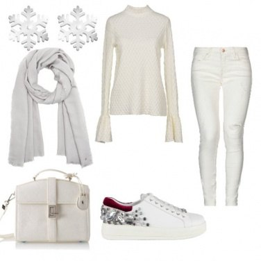 Outfit Total white comodo