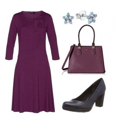 Outfit Viola e blu