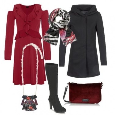 Outfit Rosso di mattina