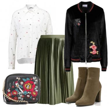 Outfit Gonna plissè
