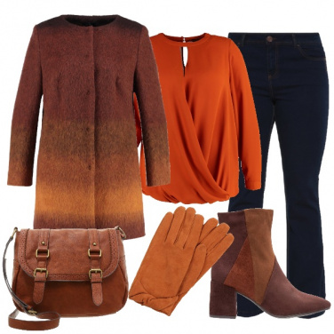 Outfit A tutto arancio