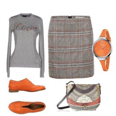 Outfit Gonna scozzese e mocassini