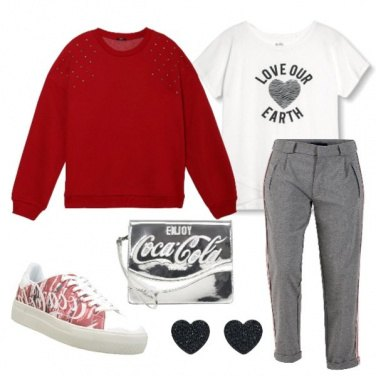 Outfit Coca Cola basic