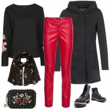 Outfit Pantalone Rosso
