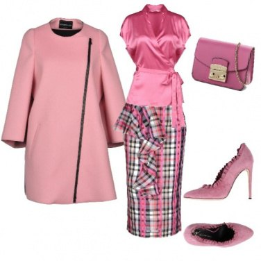 Outfit Monocromatico: rosa baby