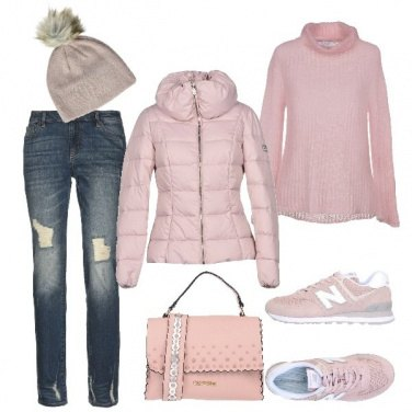 Outfit Il rosa in inverno