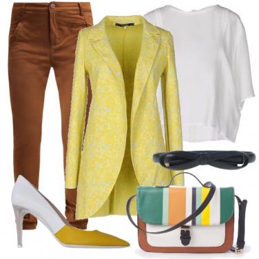 Outfit Una borsa a righe