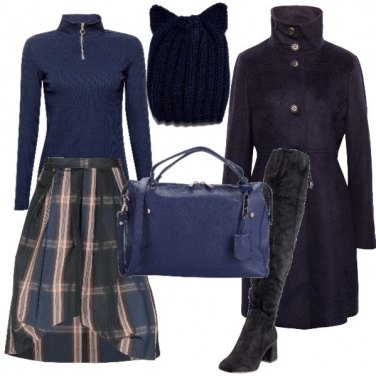 Outfit Scozzese blu