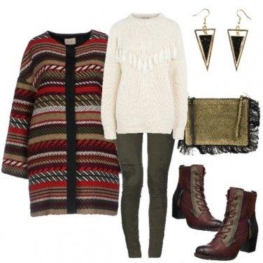 Outfit Il cappottino etnico