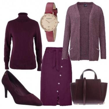 Outfit Viola in inverno