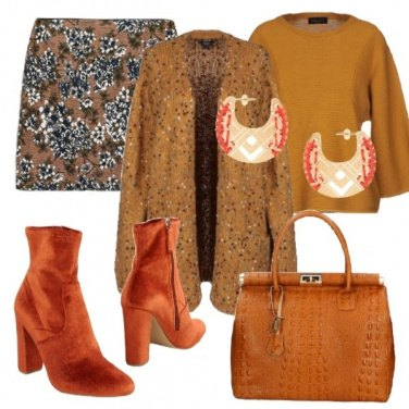 Outfit I colori etnici d\'inverno